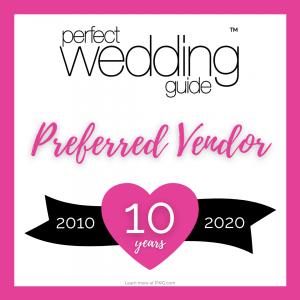 PWG Perfect Wedding Guide 2020 Preferred Vendor Badge 3